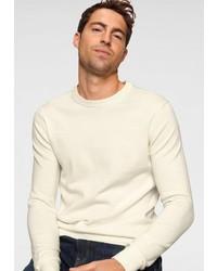 weißer Pullover mit einem Rundhalsausschnitt von Izod