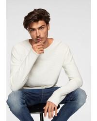 weißer Pullover mit einem Rundhalsausschnitt von Jack & Jones