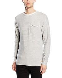 weißer Pullover mit einem Rundhalsausschnitt von JACK & JONES VINTAGE