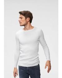 weißer Pullover mit einem Rundhalsausschnitt von John Devin