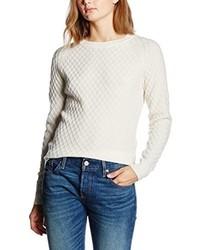 weißer Pullover mit einem Rundhalsausschnitt von Levi's
