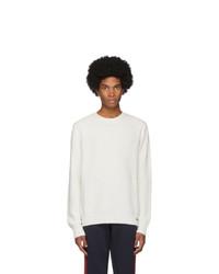 weißer Pullover mit einem Rundhalsausschnitt von Moncler