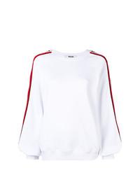 weißer Pullover mit einem Rundhalsausschnitt von MSGM