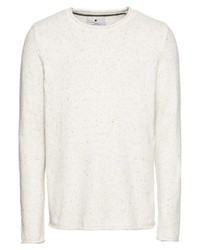 weißer Pullover mit einem Rundhalsausschnitt von Revolution