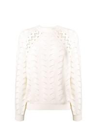 weißer Pullover mit einem Rundhalsausschnitt von See by Chloe
