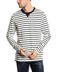 weißer Pullover mit einem Rundhalsausschnitt von Selected