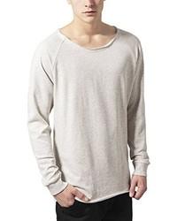 weißer Pullover mit einem Rundhalsausschnitt von Urban Classics