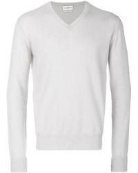 weißer Pullover mit einem V-Ausschnitt von Ballantyne