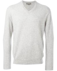 weißer Pullover mit einem V-Ausschnitt von N.Peal