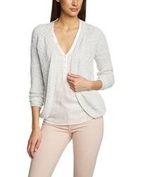 weißer Pullover mit einem V-Ausschnitt von Only