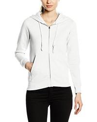 weißer Pullover mit einer Kapuze von Fruit of the Loom