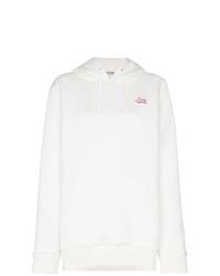 weißer Pullover mit einer Kapuze von Miu Miu