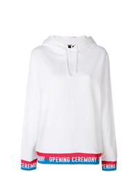 weißer Pullover mit einer Kapuze von Opening Ceremony