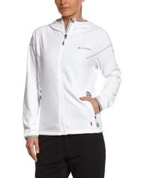weißer Pullover mit einer Kapuze von Vaude
