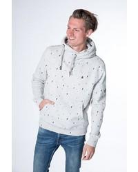 weißer Pullover mit einer weiten Rollkragen von Alife and Kickin
