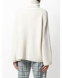weißer Pullover mit einer weiten Rollkragen von Max Mara