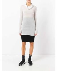 weißer Pullover mit einer weiten Rollkragen von Rick Owens