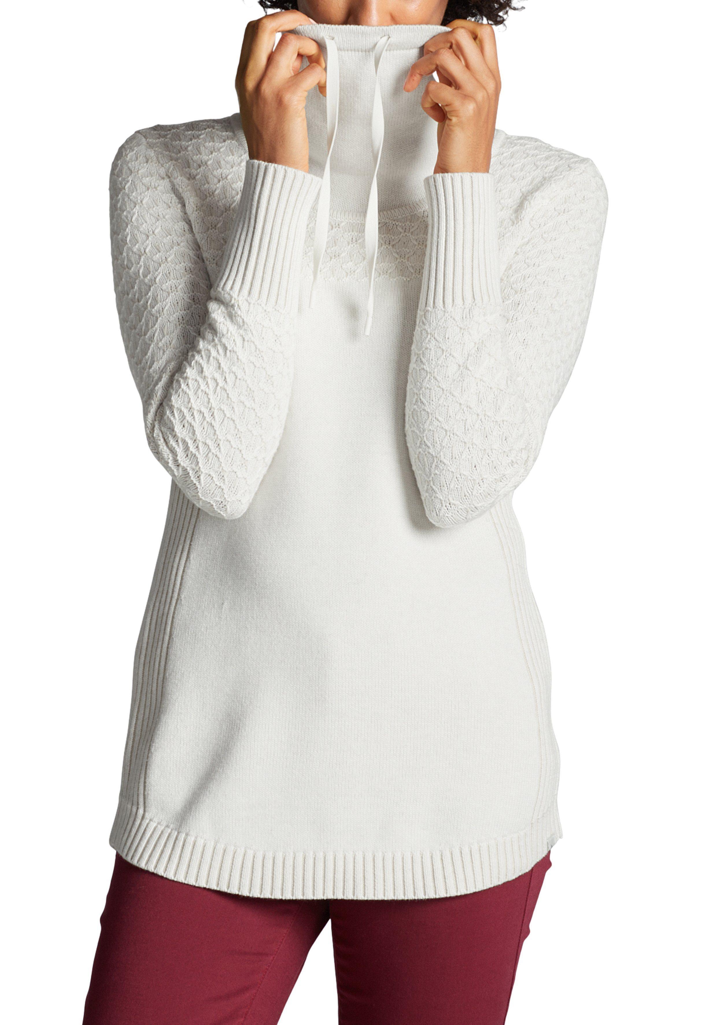 weißer Pullover mit einer weiten Rollkragen von Eddie Bauer