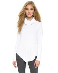 weißer Pullover mit einer weiten Rollkragen von Free People