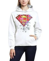 weißer Pullover mit einer Kapuze von DC Universe