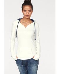 weißer Pullover mit einer Kapuze von KangaROOS