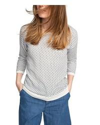 Weißer Pullover mit Rundhalsausschnitt von Esprit