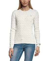 Weißer Pullover mit Rundhalsausschnitt von GANT
