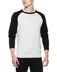 Weißer Pullover mit Rundhalsausschnitt von Jack & Jones