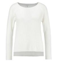 Weißer Pullover mit Rundhalsausschnitt von Only