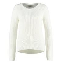 Weißer Pullover mit Rundhalsausschnitt von Vero Moda