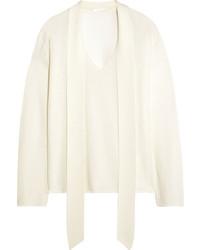 weißer Pullover mit einem V-Ausschnitt von Chloé