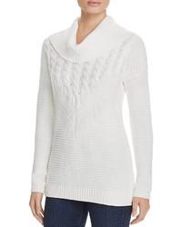 Weißer Pullover mit weitem Rollkragen von Calvin Klein