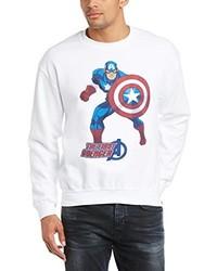 weißer Pullover von Marvel