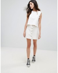 b1ebf2c0ccdc Modische weißen Rock mit Knöpfen für Winter 2019 kaufen   Damenmode