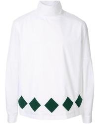 weißer Rollkragenpullover mit Argyle-Muster von Namacheko