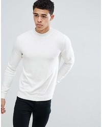 weißer Rollkragenpullover von New Look