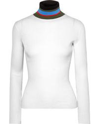 weißer Rollkragenpullover von Proenza Schouler
