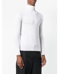 weißer Rollkragenpullover von Raf Simons