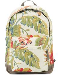 weißer Rucksack mit Blumenmuster von adidas