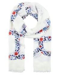 weißer Schal mit Blumenmuster von Tommy Hilfiger