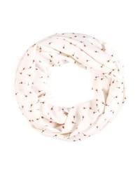 weißer Schal mit Blumenmuster von Vero Moda