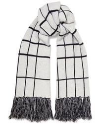 weißer Schal mit Karomuster von Rag & Bone