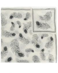 weißer Schal von Alexander McQueen
