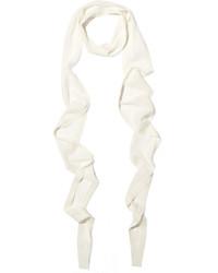 weißer Schal von Balenciaga