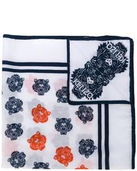 weißer Seideschal mit geometrischem Muster von Kenzo