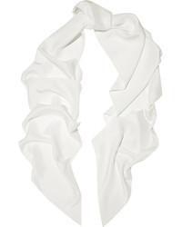 weißer Seideschal von Lanvin