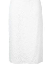 Weißer Spitze Bleistiftrock von Nina Ricci