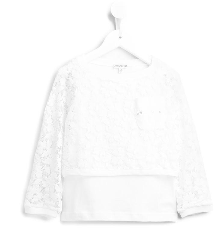 weißer Spitzepullover von Simonetta