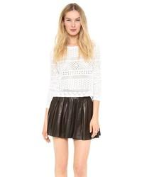 weißer Strick kurzer Pullover von Alice + Olivia