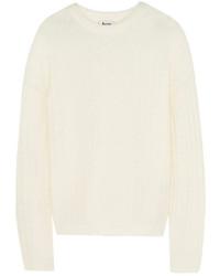 weißer Strick Oversize Pullover von Acne Studios